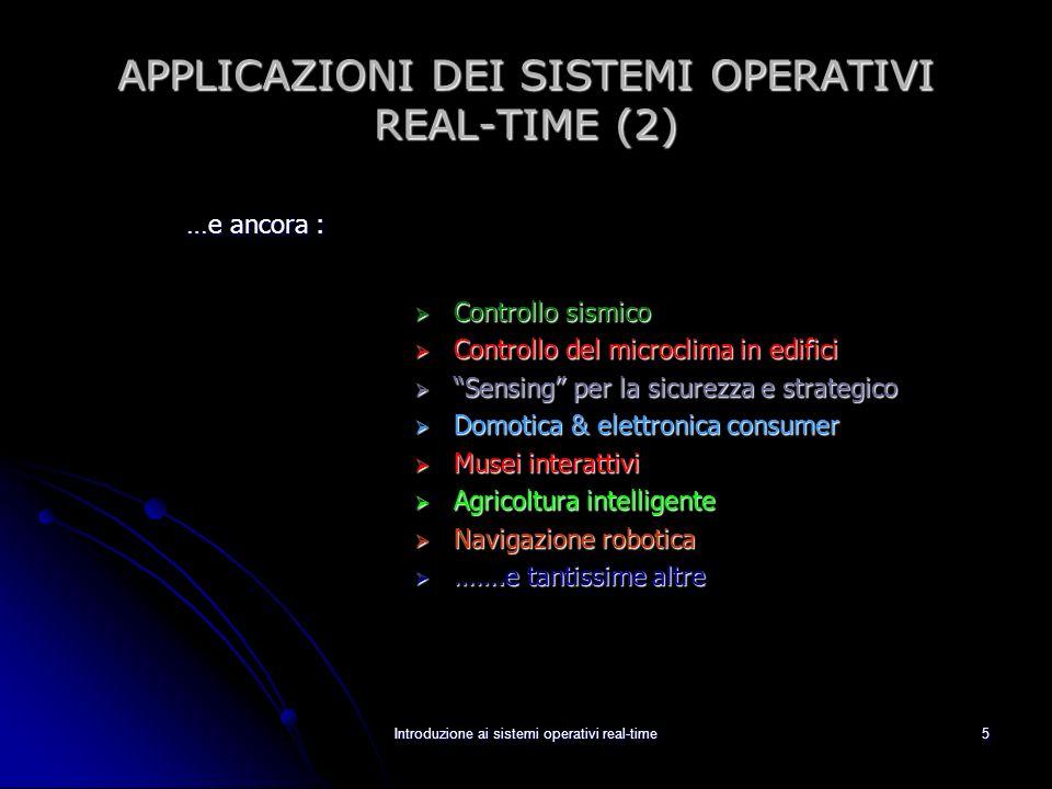 APPLICAZIONI DEI SISTEMI OPERATIVI REAL-TIME (2)