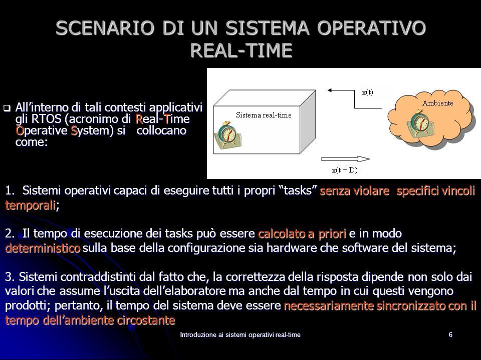 SCENARIO DI UN SISTEMA OPERATIVO REAL-TIME