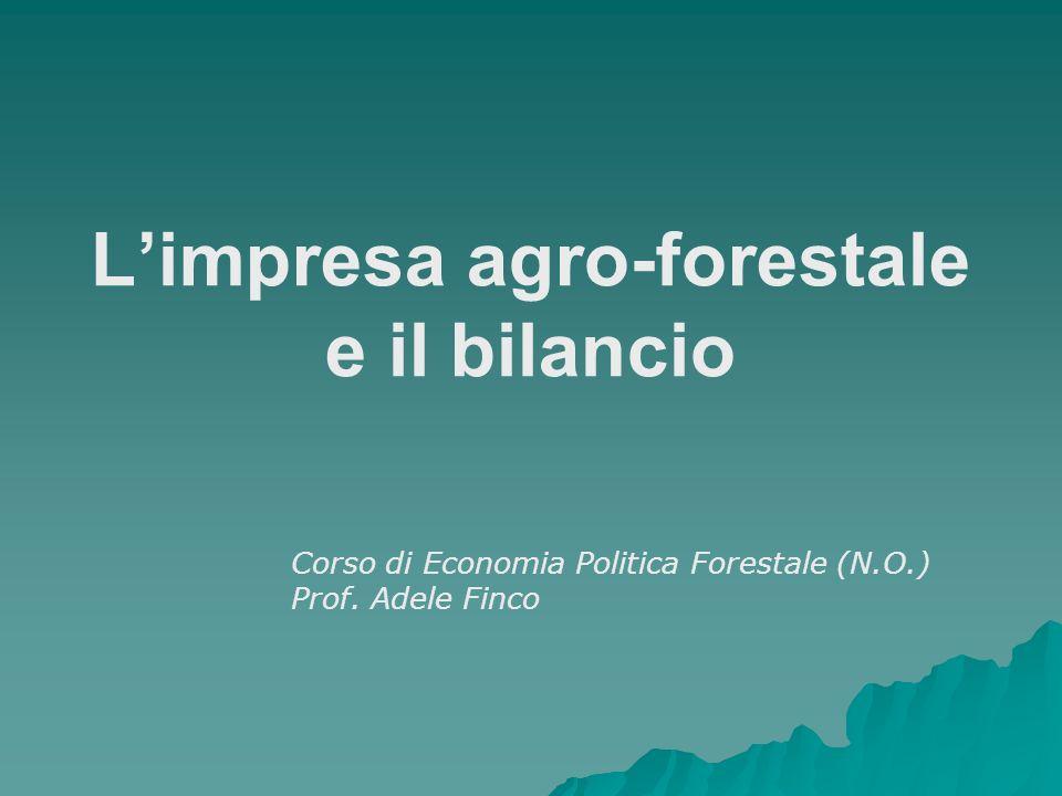 L'impresa agro-forestale e il bilancio