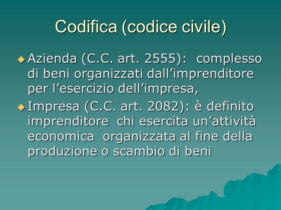 Codifica (codice civile)