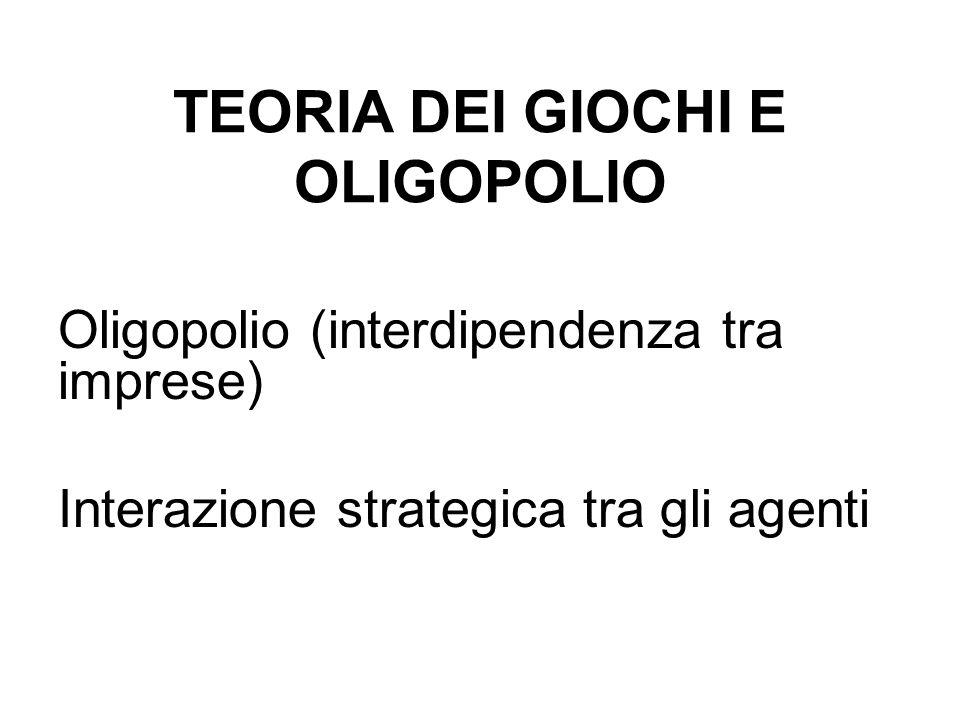 TEORIA DEI GIOCHI E OLIGOPOLIO