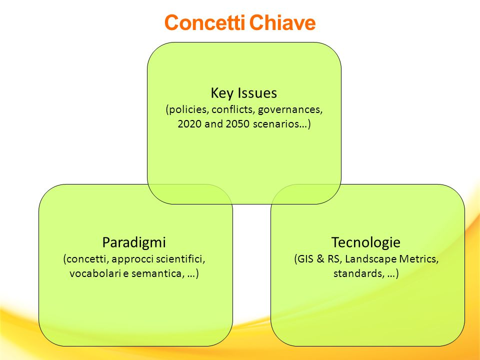 Concetti Chiave Key Issues Paradigmi Tecnologie
