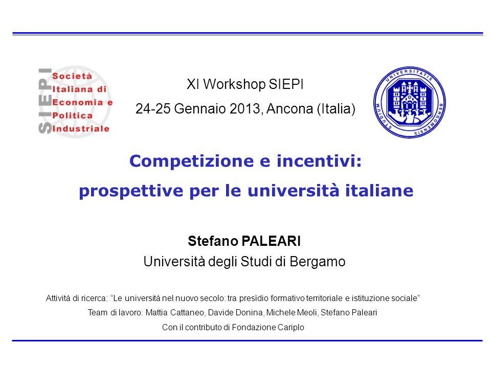 Competizione e incentivi: prospettive per le università italiane