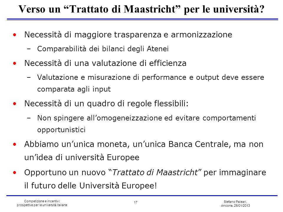 Verso un Trattato di Maastricht per le università