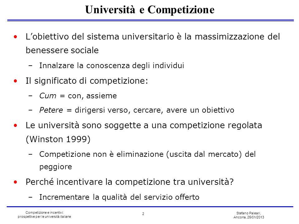 Università e Competizione