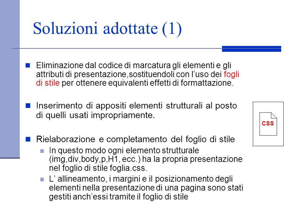 Soluzioni adottate (1)