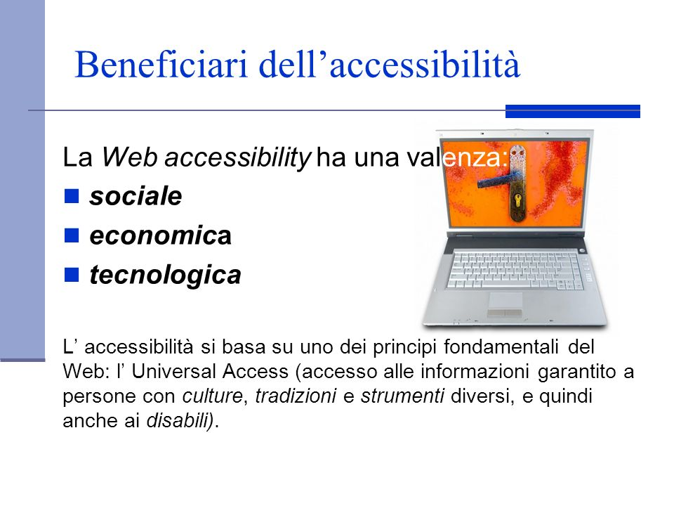 Beneficiari dell'accessibilità