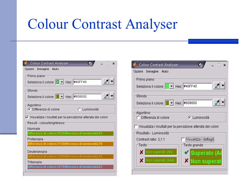 Colour Contrast Analyser