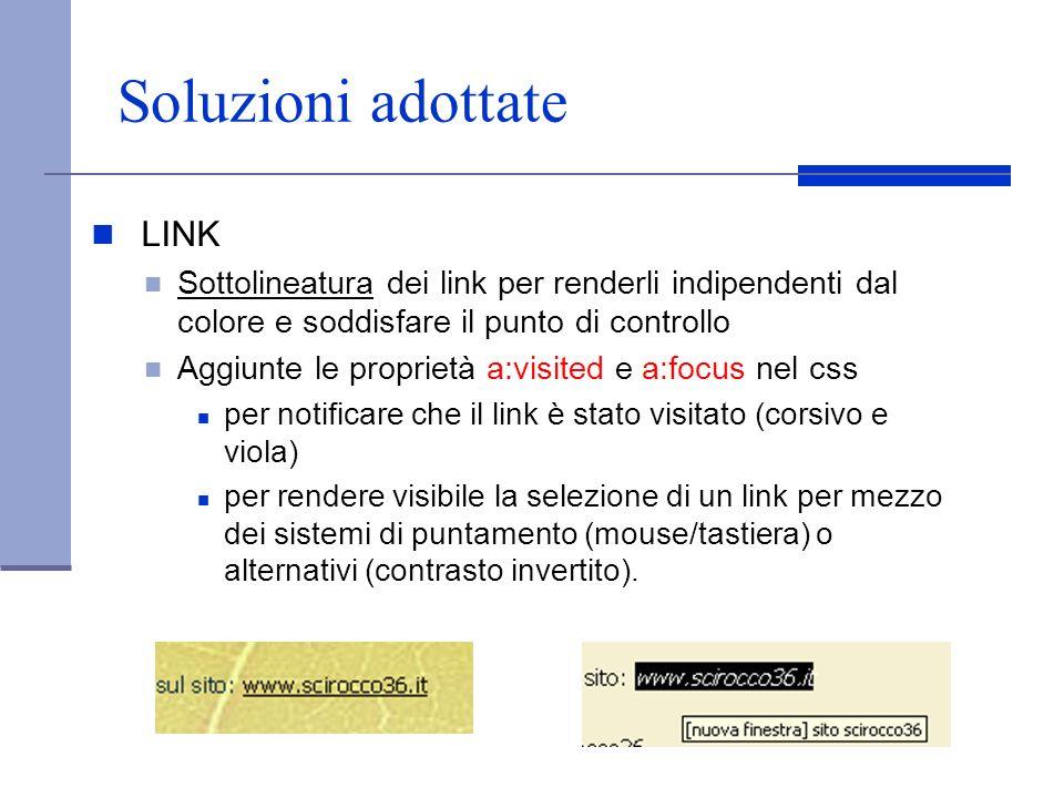 Soluzioni adottate LINK