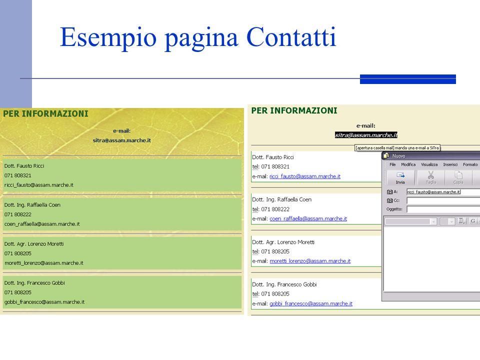 Esempio pagina Contatti