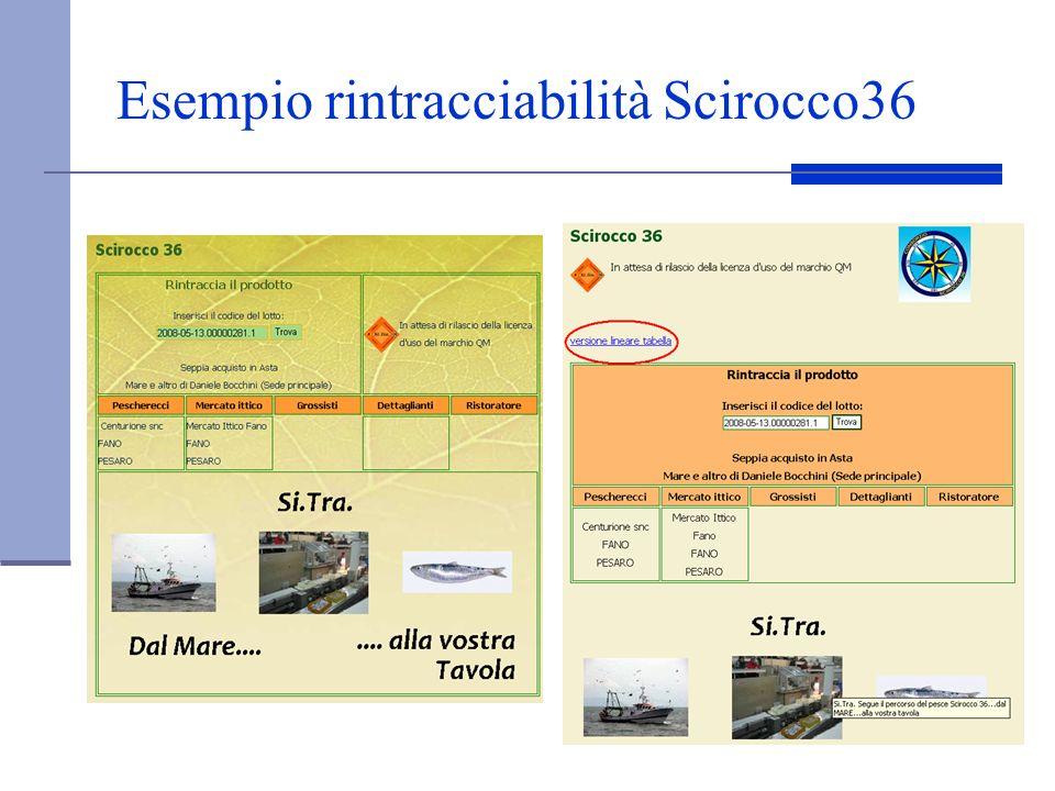 Esempio rintracciabilità Scirocco36