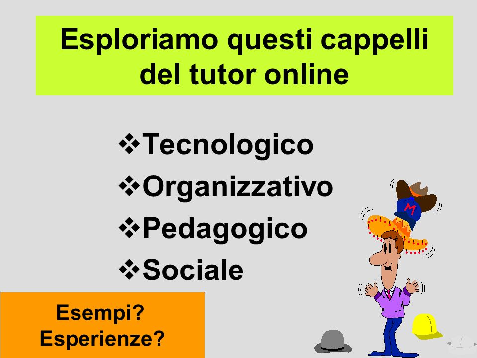Esploriamo questi cappelli del tutor online