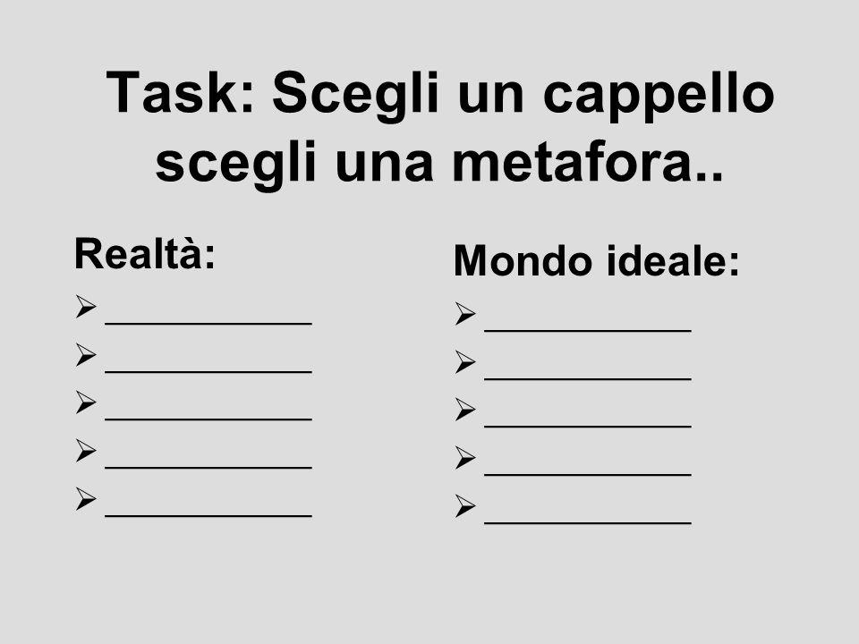 Task: Scegli un cappello scegli una metafora..
