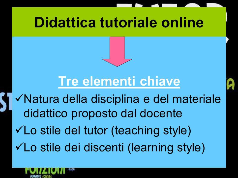 Didattica tutoriale online