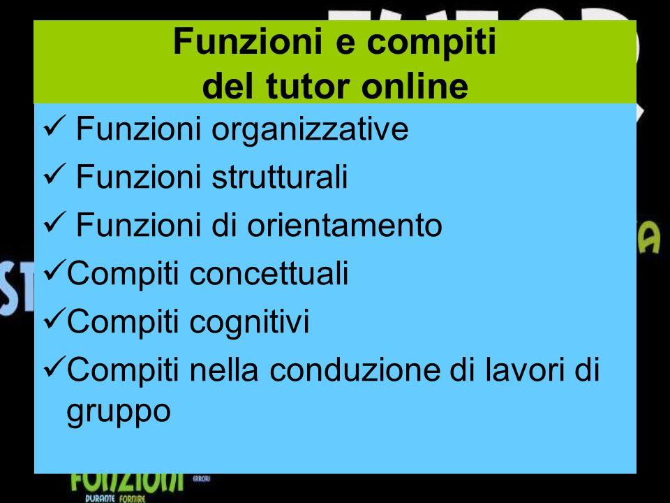 Funzioni e compiti del tutor online
