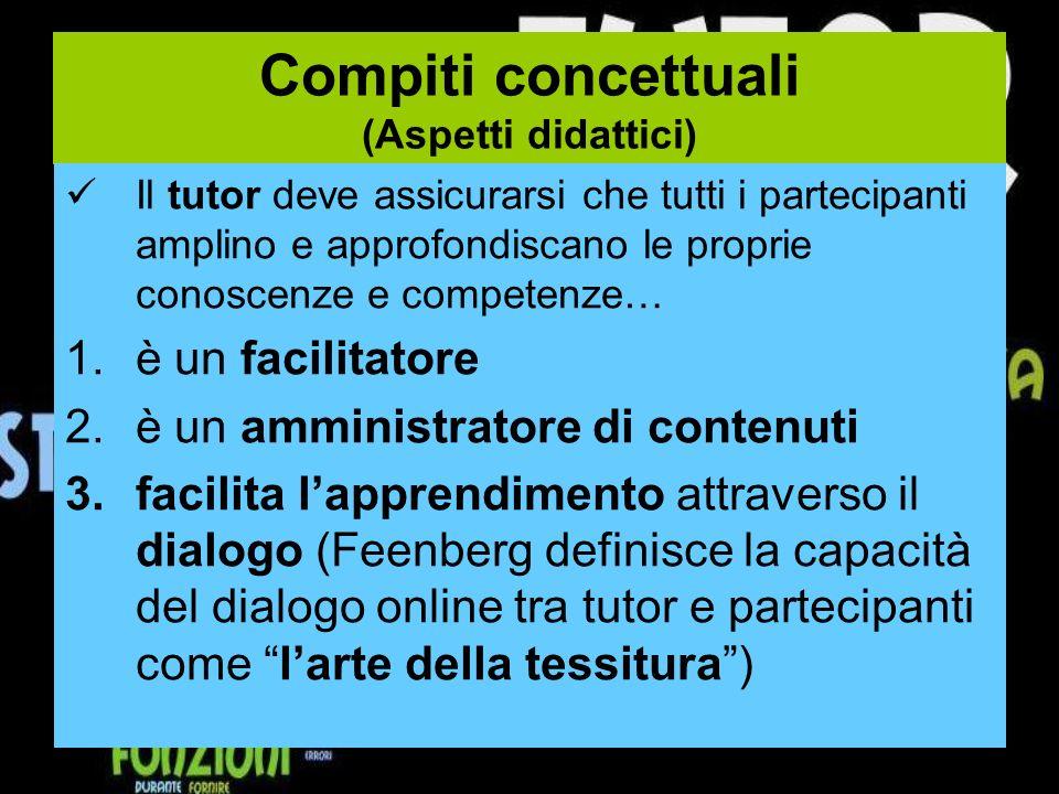 Compiti concettuali (Aspetti didattici)