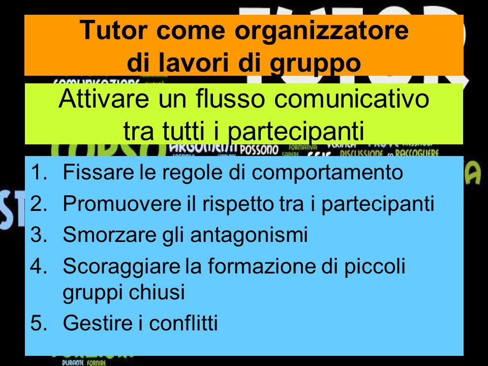 Tutor come organizzatore di lavori di gruppo
