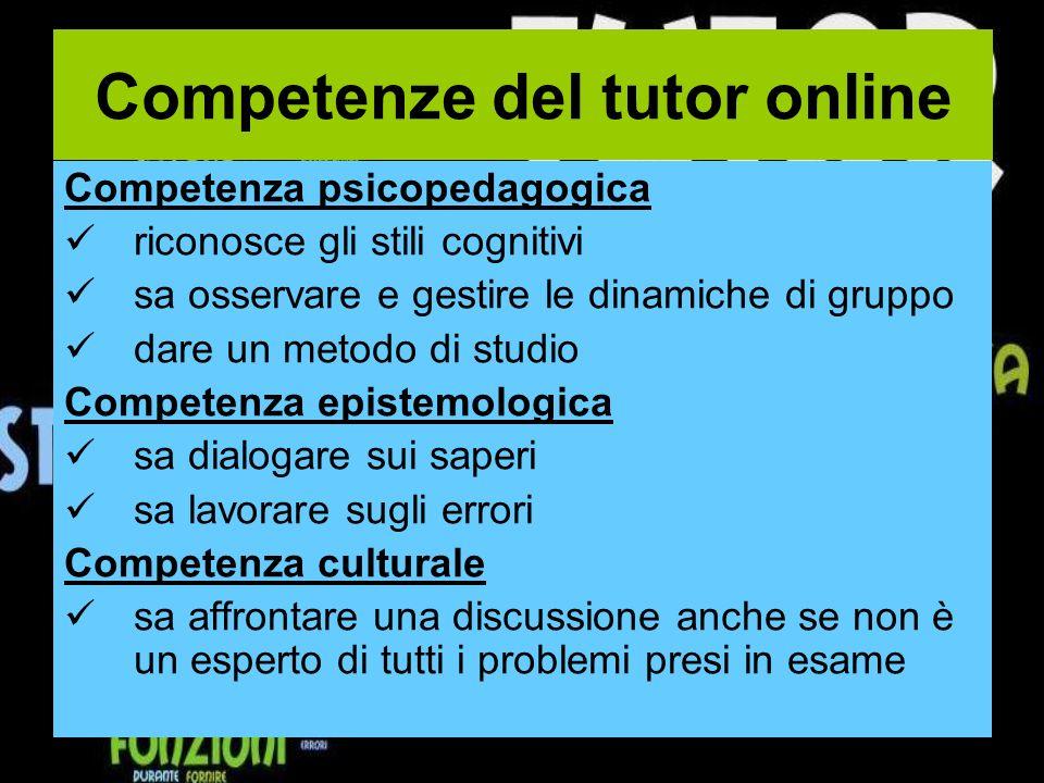 Competenze del tutor online