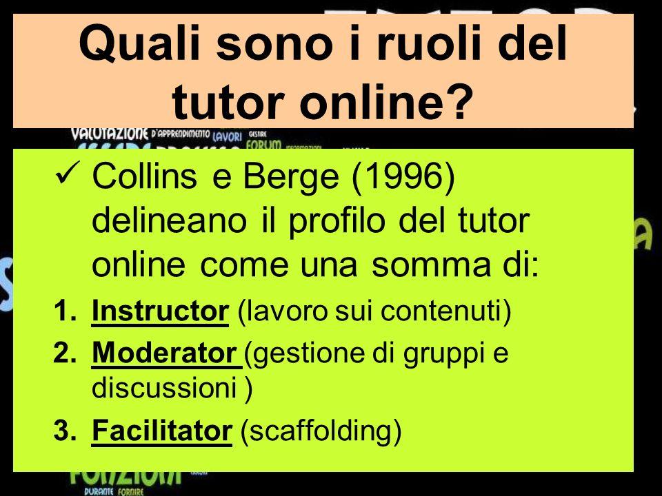 Quali sono i ruoli del tutor online