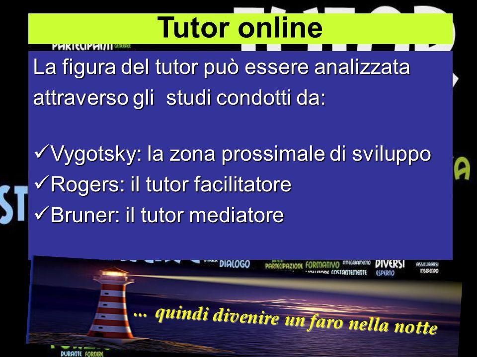 Tutor online La figura del tutor può essere analizzata