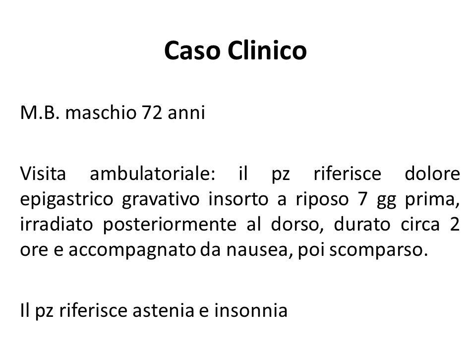 Caso Clinico M.B. maschio 72 anni