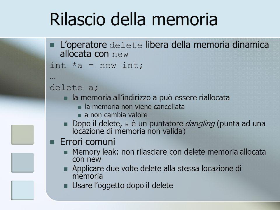 Rilascio della memoria