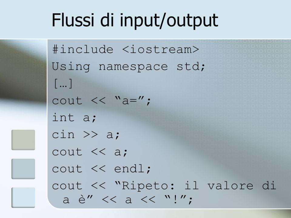 Flussi di input/output