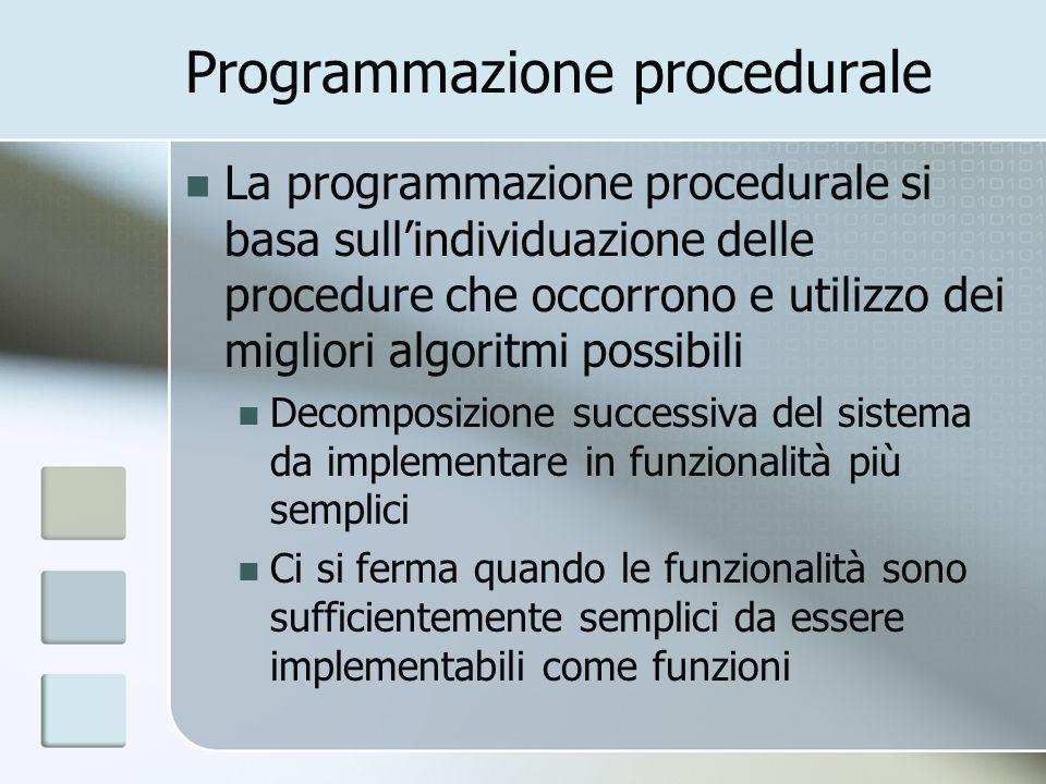 Programmazione procedurale