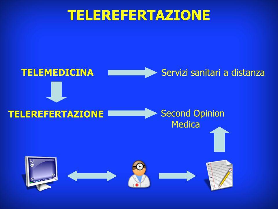 TELEREFERTAZIONE TELEMEDICINA Servizi sanitari a distanza