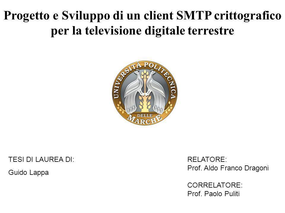 Progetto e Sviluppo di un client SMTP crittografico per la televisione digitale terrestre