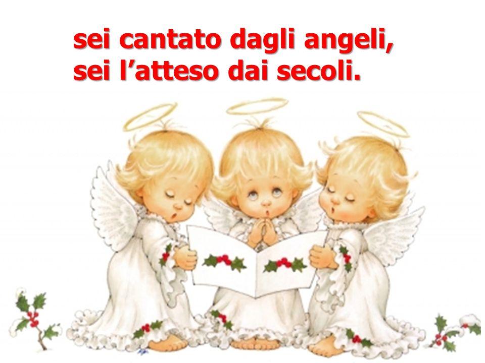sei cantato dagli angeli,