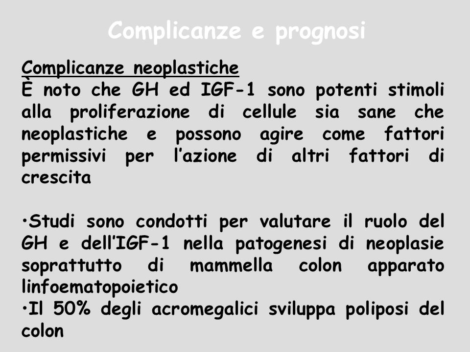 Complicanze e prognosi