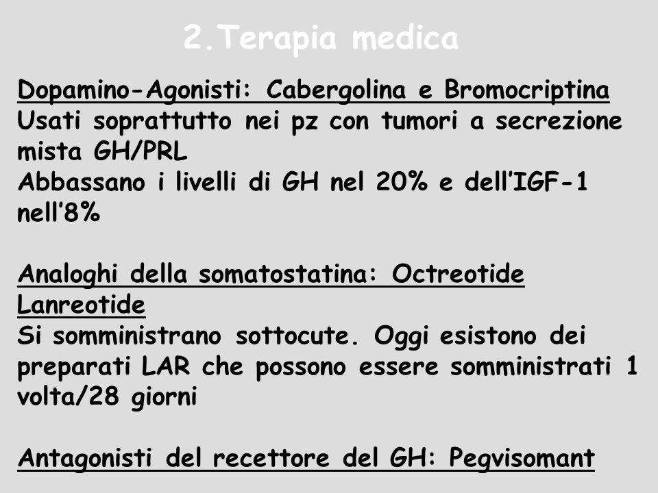 2.Terapia medica Dopamino-Agonisti: Cabergolina e Bromocriptina