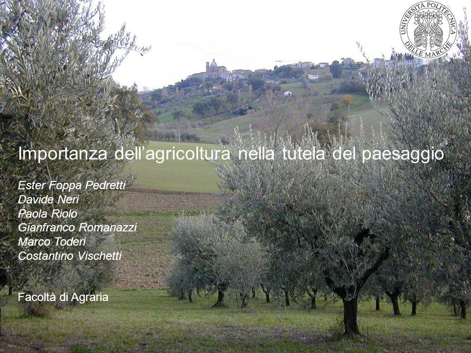 Importanza dell'agricoltura nella tutela del paesaggio