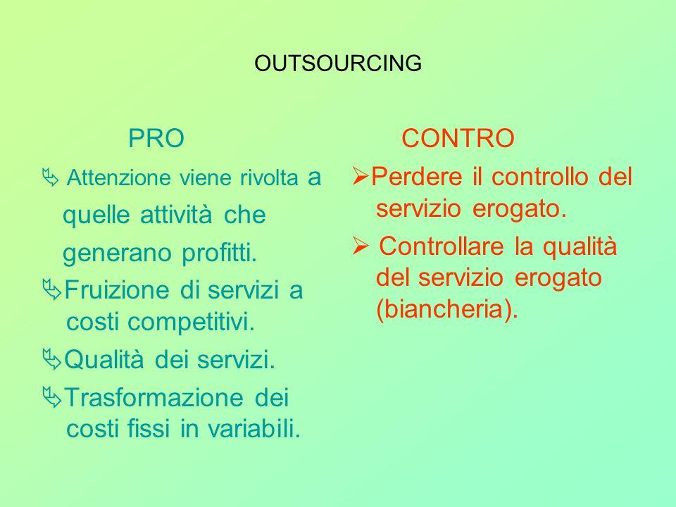 Fruizione di servizi a costi competitivi. Qualità dei servizi.