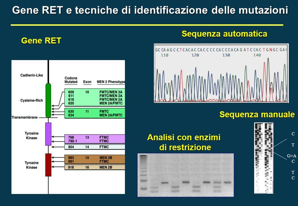 Gene RET e tecniche di identificazione delle mutazioni