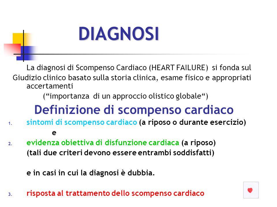 DIAGNOSI Definizione di scompenso cardiaco