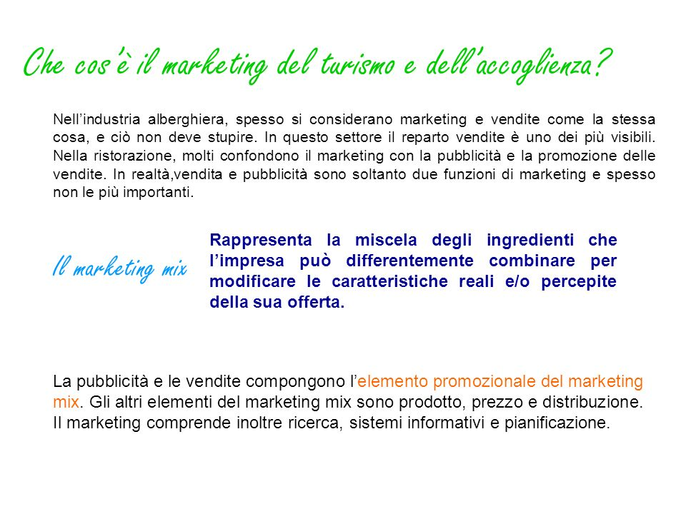 Che cos'è il marketing del turismo e dell'accoglienza