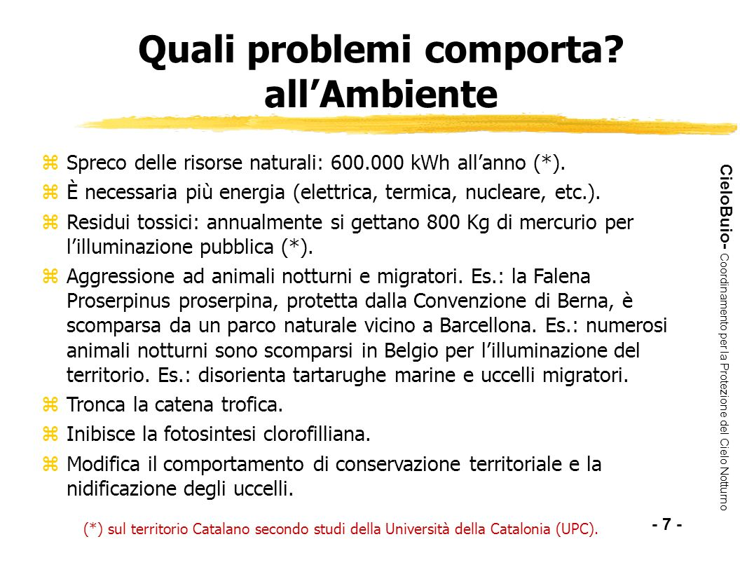 Quali problemi comporta all'Ambiente