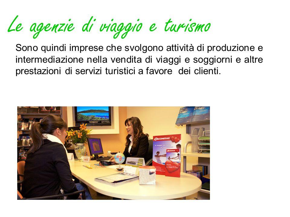 Le agenzie di viaggio e turismo