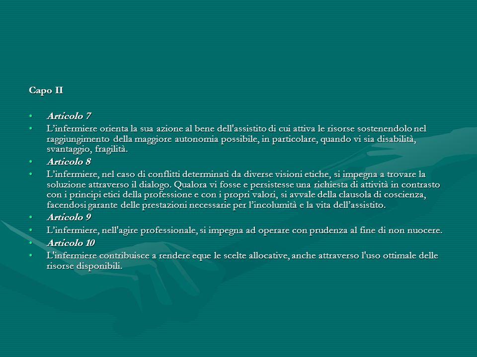 Capo II Articolo 7.
