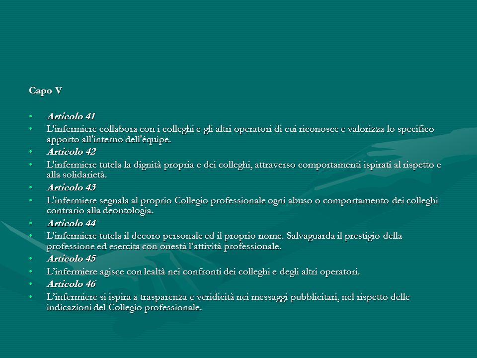 Capo V Articolo 41.