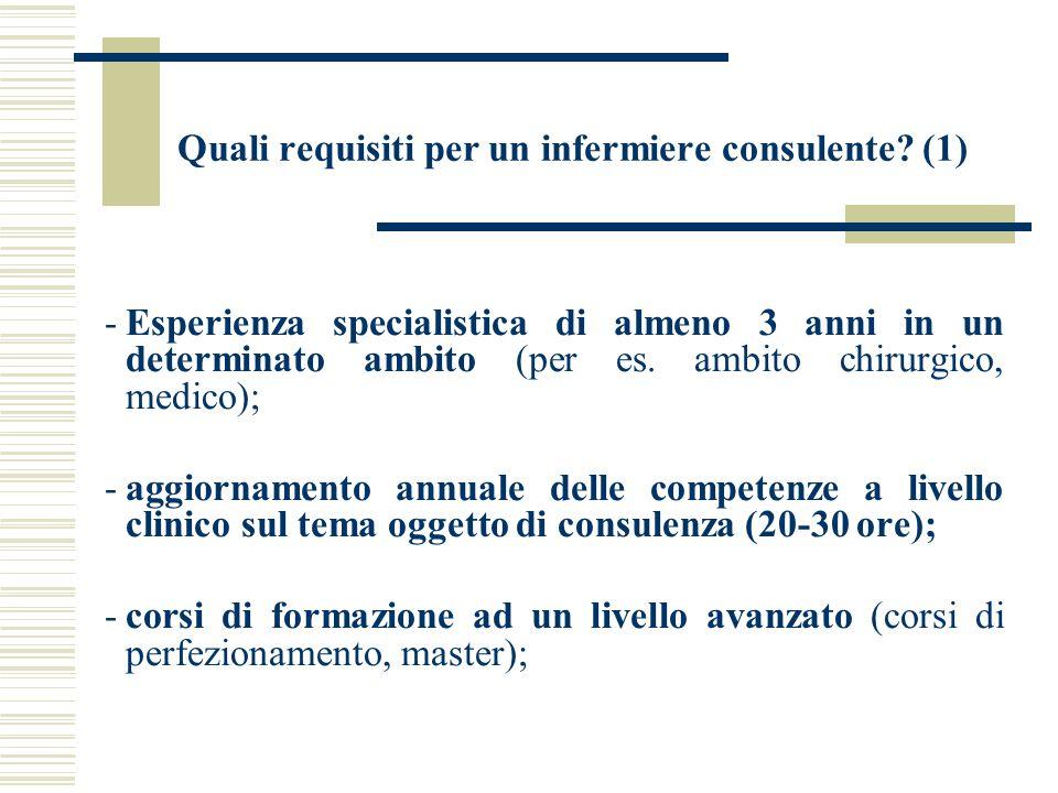 Quali requisiti per un infermiere consulente (1)