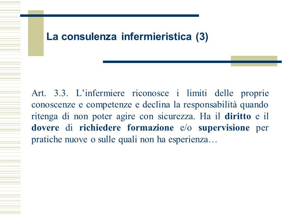 La consulenza infermieristica (3)