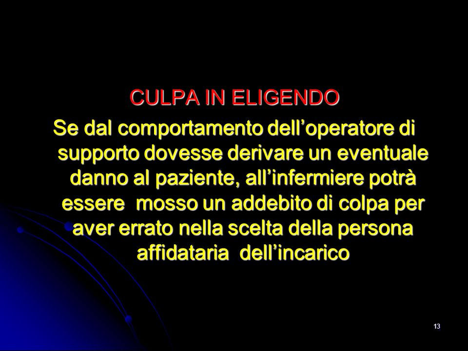 CULPA IN ELIGENDO