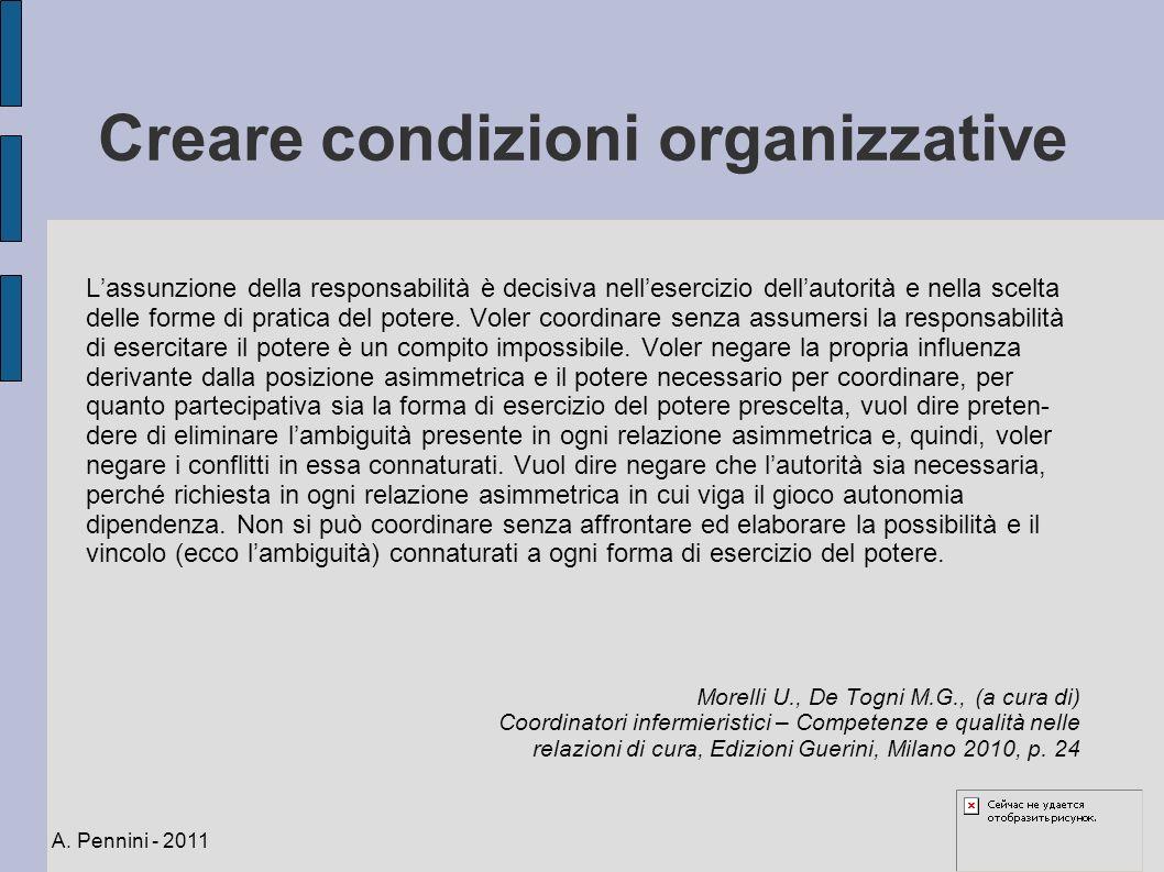 Creare condizioni organizzative