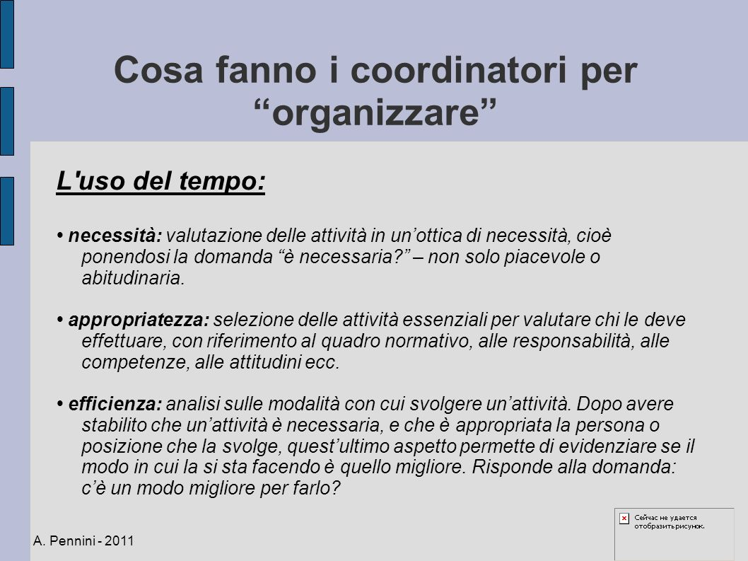 Cosa fanno i coordinatori per organizzare