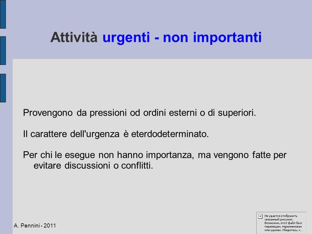 Attività urgenti - non importanti