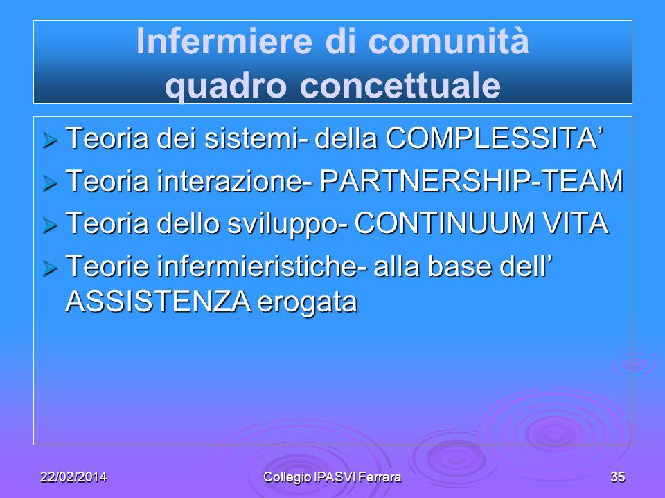 Infermiere di comunità quadro concettuale