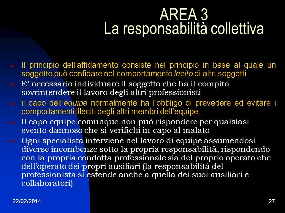AREA 3 La responsabilità collettiva
